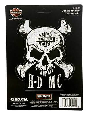 Harley-Davidson Skull & Crossbones Stick Onz Decal Set, 6 x 8 inches CG25056