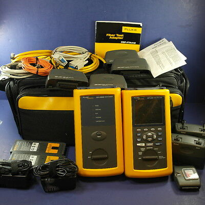 Fluke Networks DSP-4300 Cable Analyzer w Smart Remote & DSP-FTA410 Fiber