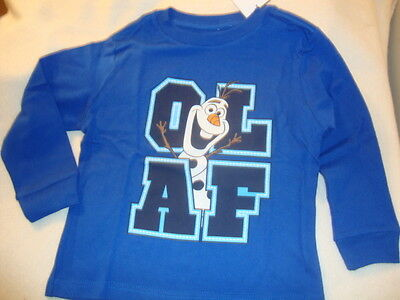 DISNEY FROZEN OLAF long sleeved graphic TEE SHIRT NWT