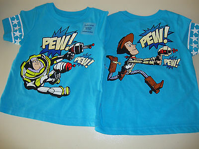 DISNEY / OLD NAVY TOY STORY SHIRT GRAPHICS FRONT & BACK 18-24m  NWT BUZZ & WOODY