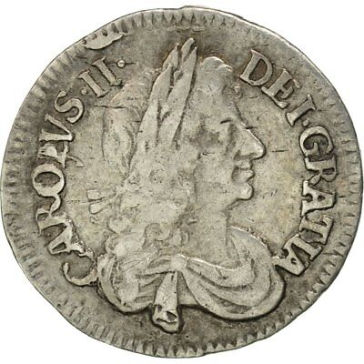 [#481280] Great Britain, Charles II, 4 Pence, Groat, 1679, EF(40-45), Silver