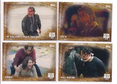 Walking Dead Season 5 Complete 100 Card Rust Parallel Set! Vhtf