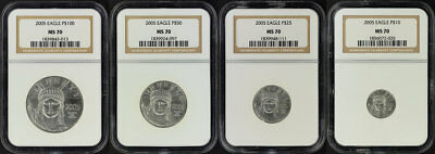 2005 American Platinum Eagle 4 Coin Set NGC MS-70 -164663