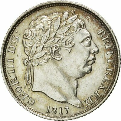 [#481281] Great Britain, George III, 6 Pence, 1817, MS(60-62), Silver, KM:665