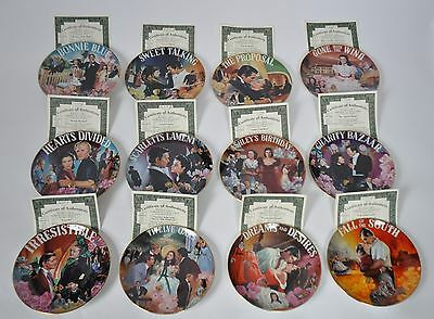 Bradford Exchange GONE WITH THE WIND Collector Plate Set Lot of 12 all COA