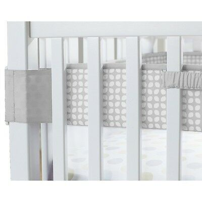 Carter's Fresh Air Crib Liner - Neutral Crib Bumper Alternative, Smoke Grey Tile