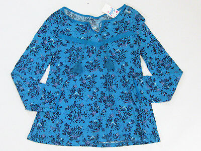 NWT Justice Kids Girls Size 7 8 10 12 14 16 or 20 Blue Peasant Knit Shirt Top