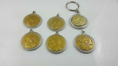 6 pc Remember Native Americans Code Talkers Token/Pendants & Outreach Keychain