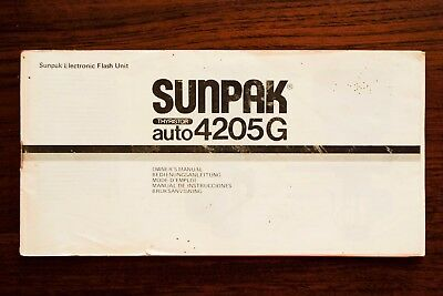 Sunpak Auto 4205G flash instruction manual