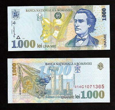 Banknote World, Romania In Europe,1 Pce Of 1000 Lei  1998 , P-106 Unc