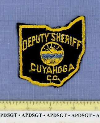 CUYAHOGA COUNTY DEPUTY SHERIFF (~Old Vintage) OHIO OH Police Patch STATE SHAPE