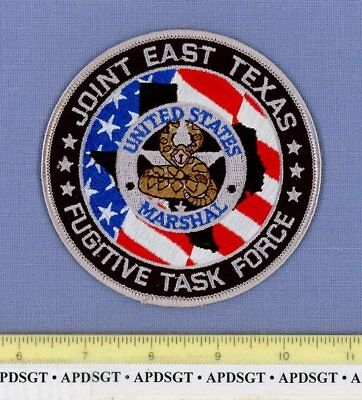 USMS EAST TEXAS FUGITIVE TASK FORCE Sheriff Police Patch US MARSHAL RATTLESNAKE