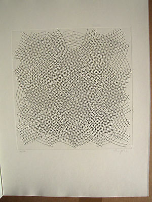 Uli Pohl 1969 Original Lithography on Tubs Numbered, dated, AUTOGRAPHED