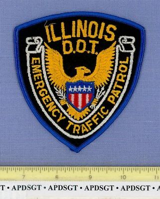 ILLINOIS DOT EMERGENCY TRAFFIC PATROL (~Old Vintage) Police Patch TRANSPORTATION