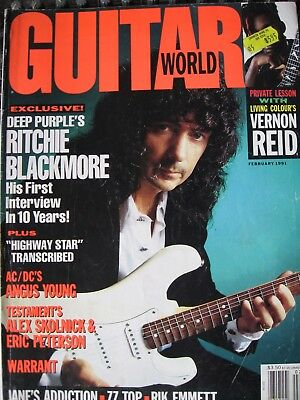 Guitar World February 1991 Ritchie Blackmore on the cover