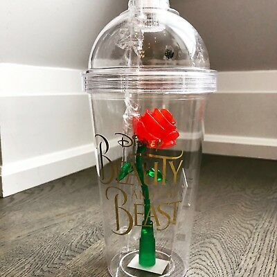 Disney Beauty And The Beast Light Up Enchanted Rose Tumbler Cup