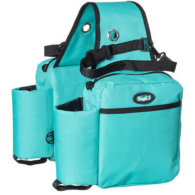 Tough-1 Nylon Heavy Duty Saddle Bag Insulated Water Bottle Gear Holder Turquoise