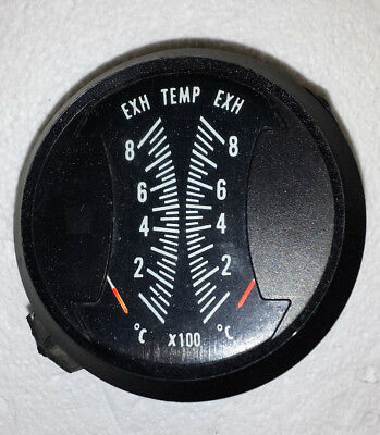 """2 Westach Dual EGT & 2 Dual CHT Gauges with Senders. 3"""" Round in Centigrade"""