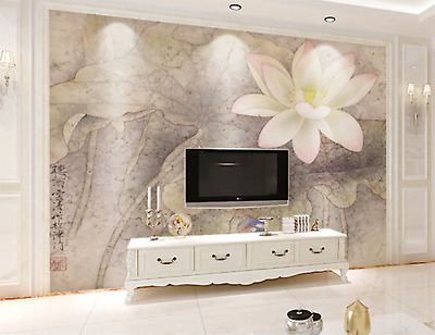 3D Lotus Pattern 637 Wallpaper Murals Wall Print Wallpaper Mural AJ WALL AU Kyra