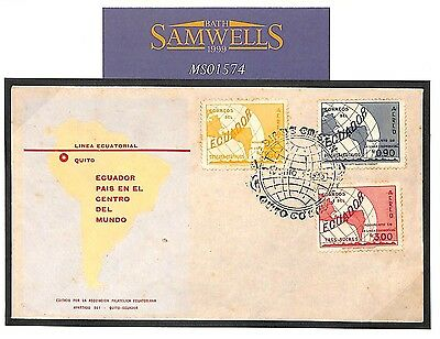 MS1574 1953 ECUADOR FDC Illustrated First Day Cover PAN-AM AIRWAYS EQUATOR Issue