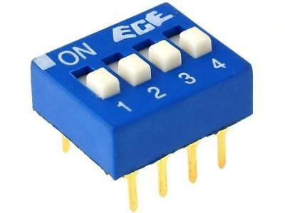 EDG104S Switch DIP-SWITCH Poles number4 ON-OFF 0.1A/24VDC -25÷70°C