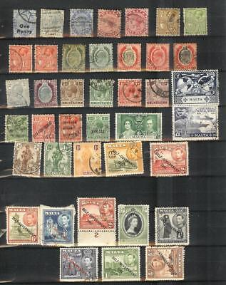 Malta   Old   Stamp   Selection