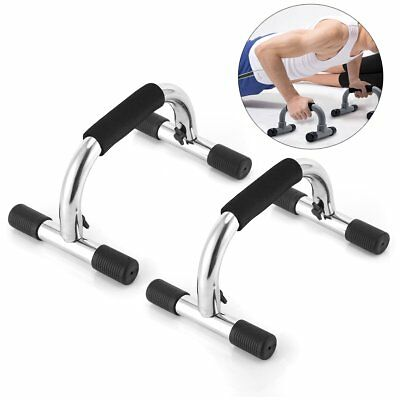 2pcs Push Up Stands Hand Bar Home Fitness Gym Equipment Detachable Portable