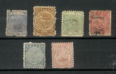 Fiji   Fidschi    Victoria     Old   Stamp   Selection
