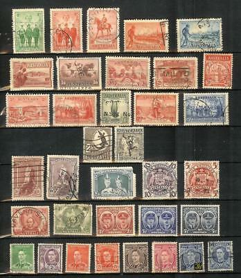 Australien   Australia   George  Vi   Old   Stamp   Selection