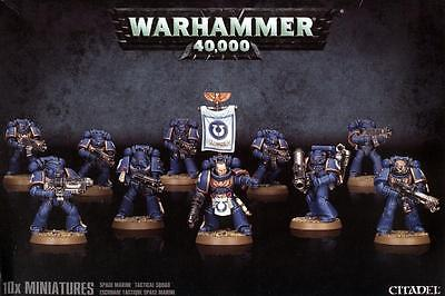 WARHAMMER 40000 Space Marine Tactical Squad - Team Tactics Marines