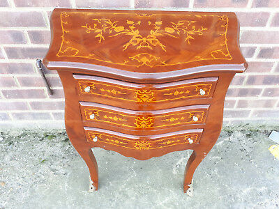 Inlaid Occasional Table With 3 Drawers - 575