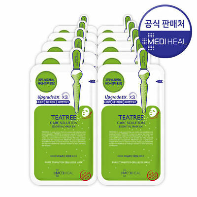 [MEDIHEAL] Teatree Care Solution Essential Mask  25 ml  1/5 Sheet (Made in Korea