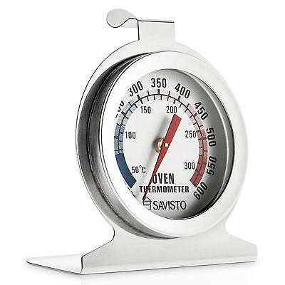 STAINLESS STEEL OVEN COOKER THERMOMETER TEMPRATURE GAUGE 600c STANDING STAND HCO