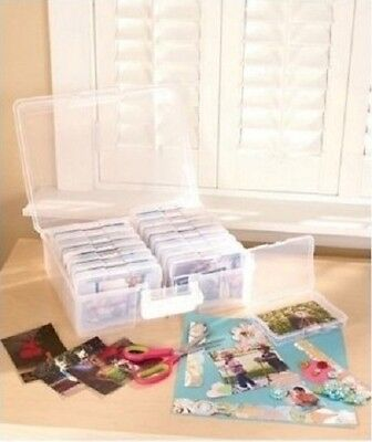 Scrapbooking Photo Organizer & 1,600 Picture Storage Acid Free Polypropylene New