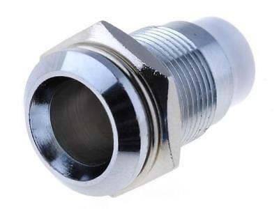 SMB1129 LED holder 8mm chromium metal concave with plastic plug SIGNAL-CONSTRUCT