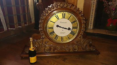 Antique two faced fusee gallery grand building clock