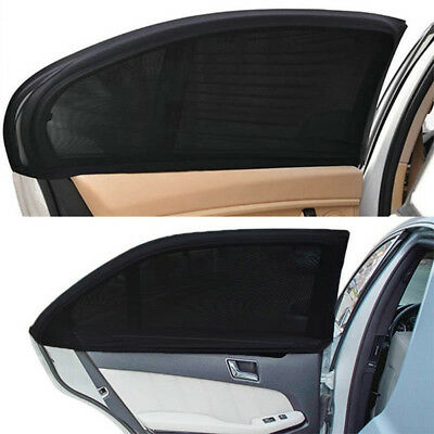 2x Rear Side Car Window Sun Visor Shade Mesh Cover Shield Sunshade UV Protector