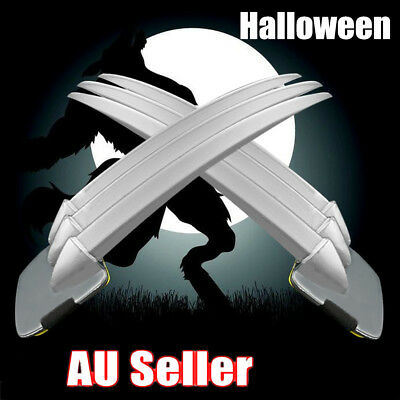 Adult/children 2PCs Wolverine Claws Hard plastic Cosplay The props Halloween AU