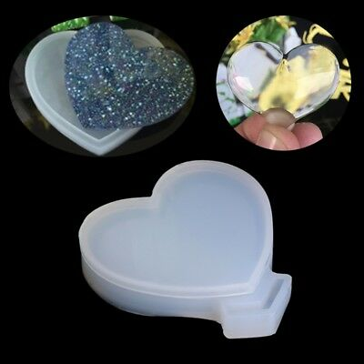 Loving Heart Silicone Mold Pendant Mould Resin Jewelry Making Tool Fondant Cake