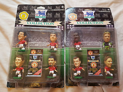 2x Corinthian 4 Packs Manchester United 1995 Cole Schmeichel Giggs Keane Bruce