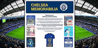 CHELSEA memorabilia website Business with stock, free web hosting & extras