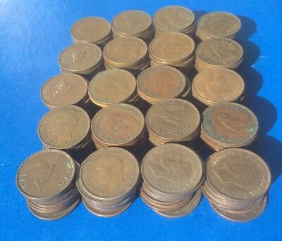 200 King George Vi Farthing Coins