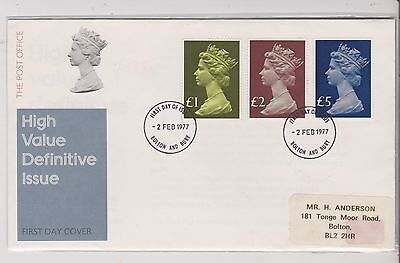 FDC - High Value Definatives - 1977 - (10) (X)