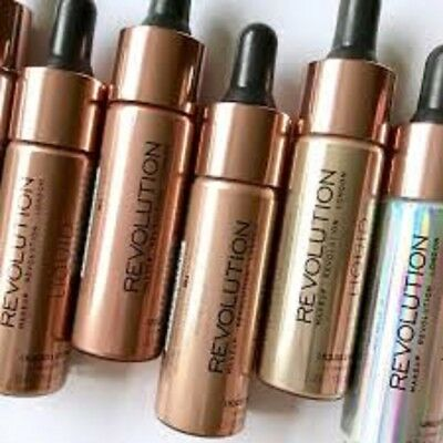 *NEW* MakeUp Revolution Liquid Highlighter Gold Starlight Champagne Bn Authentic