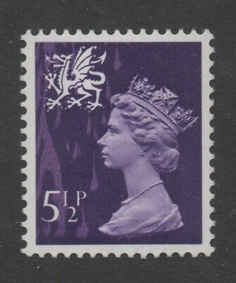 Wales. W20. 5 1/2p violet with attractive printing error. Fine unmounted mint.