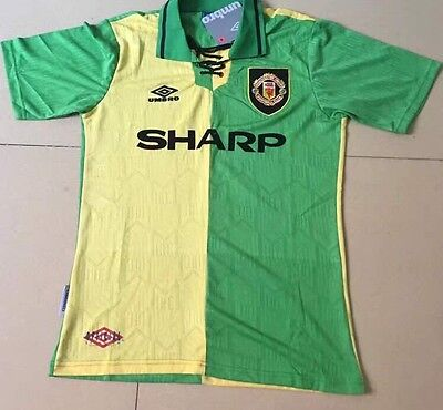 MANCHESTER UNITED SHIRT TOP Cantona 7 Size Large NEWTON HEATH RETRO JERSEY