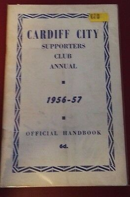 1956-57 Cardiff City Handbook  Publication. Very Collectible - Vintage Supporter