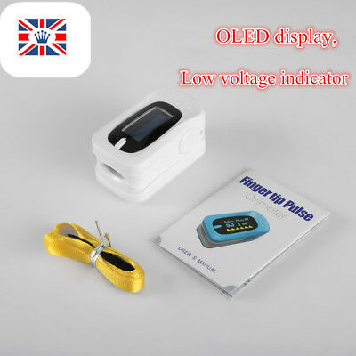 Fingertip Pulse blood Oximeter heart rate pulse SPO2 OLED Display automatic RK