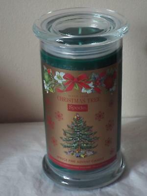 Spode Christmas Tree SPRUCE PINE FRAGRANCED ADVENT CANDLE  in Glass Jar 16.5oz