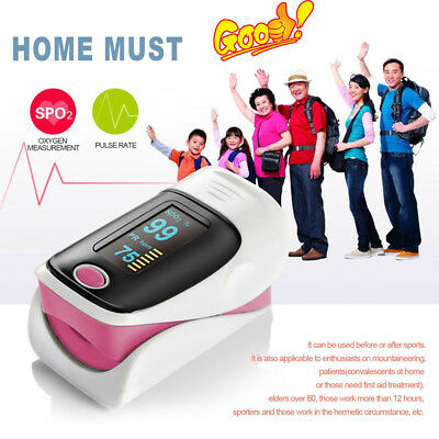 Heart rate Finger Pulse Oximeter With OLED Display Blood Oxygen Monitor new RK